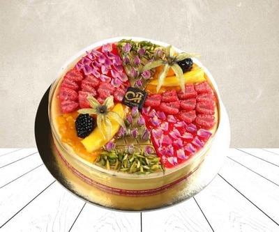 Mix fruit cheese cake image