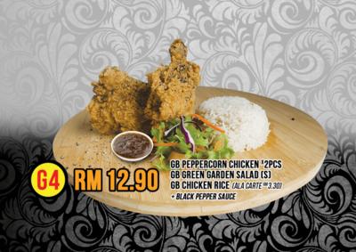 G4 Peppercorn Chicken X2 & Rice image