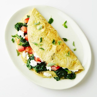 Spinach Fetta Omellette image