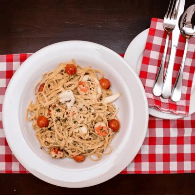 Seafood Pasta  ~ 45 Min image