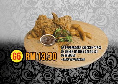 G6 Peppercorn Chicken X2 & Wedges image