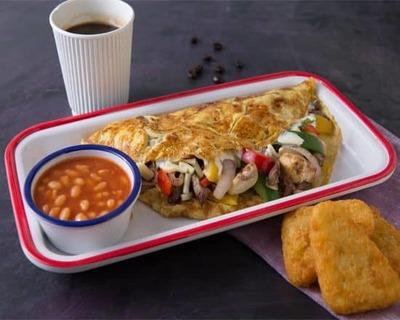 Vegetable Omelette Sandwich image