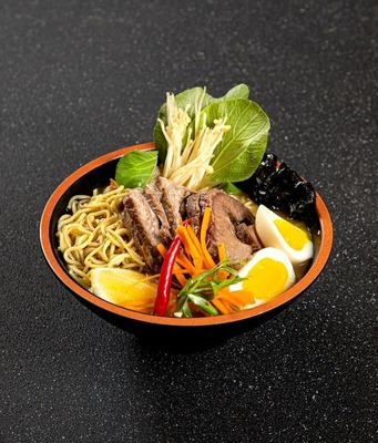 Panseared Beef Fillet Ramen with homemade 22hr slow cooked Beef Bone Broth (preservative free) image