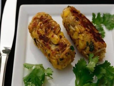 Paneer Corn Kabab image
