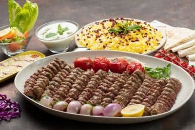 Mutton Kubideh Family Platter  1KG (12 skewers) - AED 180 image