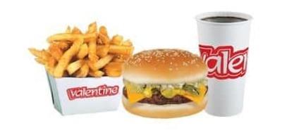 Trio cheeseburger et frites image