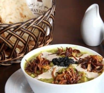 Persian Style Soup - Persian Noodle, Fresh Herbs & Mixed Beans Ash (Ash - E - Reshteh) image