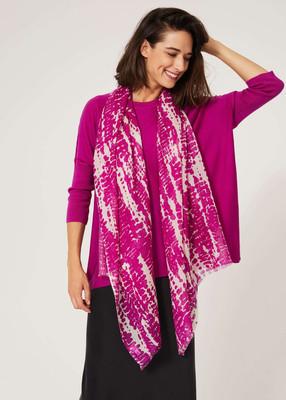 Merino wool tunic - Magenta image