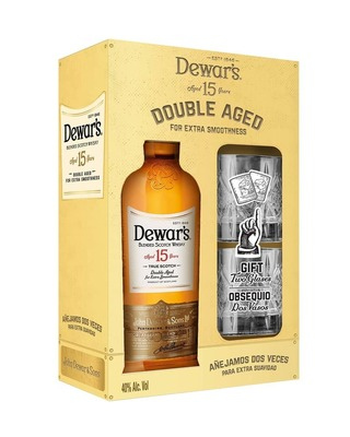 Dewar's 15 .750 - Holiday Gift Pack w/ Glass (Spirits) image