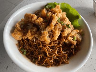 干盘鸡扒面(酱油)Kampua Chicken Chop (Soy Sauce) image