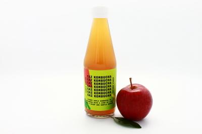 Caz Kombucha Simply Sublime: Cloudy Apple Kombucha Tea with a Zing of Lime, 250ml bottle image