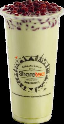 Matcha Red Bean Milk Tea image