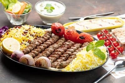 Mutton Kubideh Family Platter 500 gms (6 skewers) image