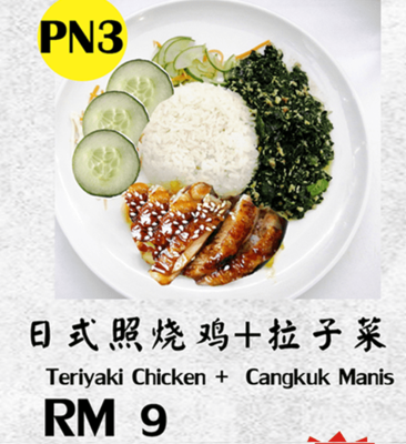 (PN3) Teriyaki Chicken + Cangkuk Manis image