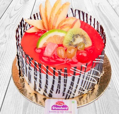 Strawberry Fruit Cocktail Cake-Egg image