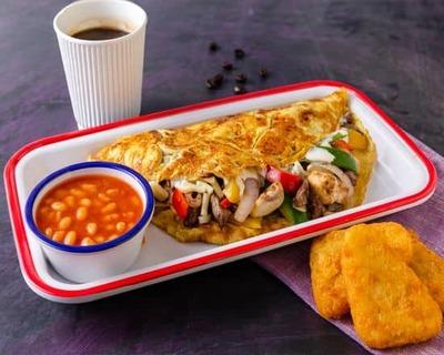 Steak Omelette image