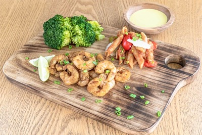 Grilled Shrimps(Kcal)144,Fat (g)2,Carbs (g)2,Protein (g)26 image