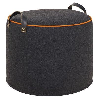 CHARCOAL ORANGE Wool Tuffet image
