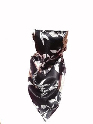Koglo, Scarf Mask, Black Floral Satin, 1pc image