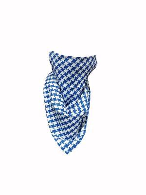 Koglo, Scarf Mask, Blue Afghan Satin, 1pc image
