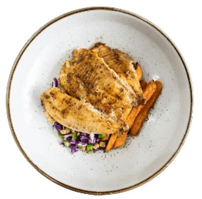 Fish w Sweet Potato Chips image