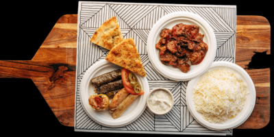 Greek Vegetarian Platter image
