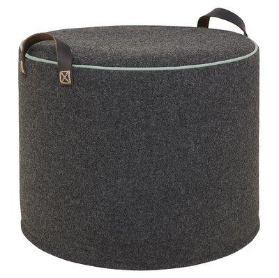 CHARCOAL DUCK EGG Wool Tuffet image