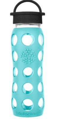 Lf Water Bottle Glass Sea Green 22Oz image