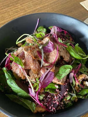 Warm lamb, quinoa & beetroot salad image