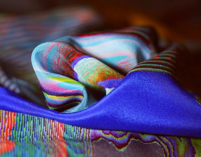 'Syntax' Pure Silk Scarf Limited Edition Print image