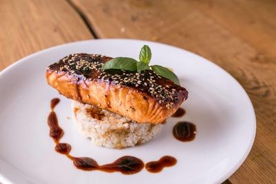 Teriyaki Salmon Protein Meal image