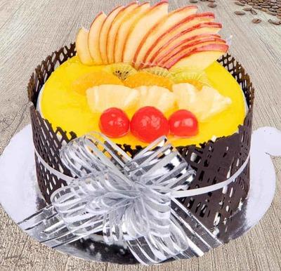Mango Delight Cake-Egg image