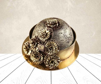 Dome chocolate cake image