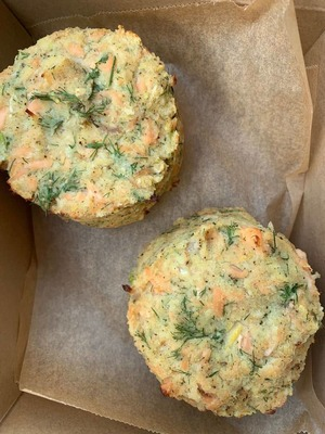 Salmon, potato & dill cakes serves 2  image