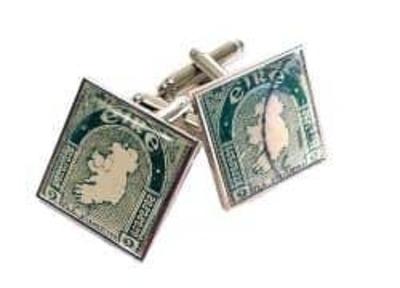 Eire Map Vintage Stamp Cufflinks  image