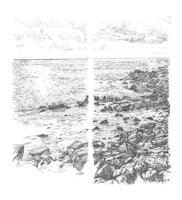 'Cornish Coast' (diptych) image