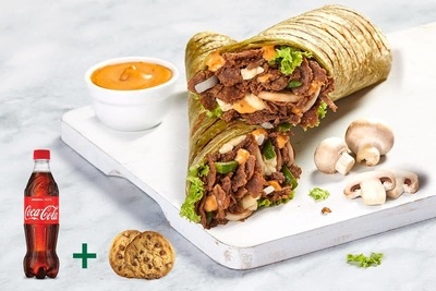 Steak Mushroom Melt Wrap Meal image