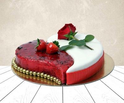 Heart shape cake image