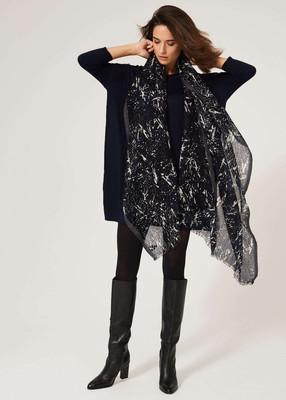 Merino Wool Dress - Navy image