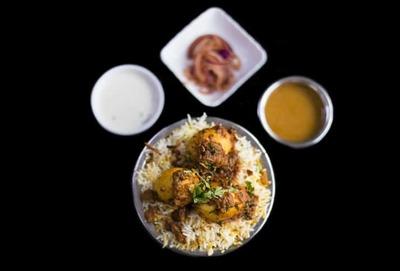 Hyderabadi Egg Biryani image