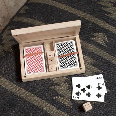 Wooden Card and Dice Set image