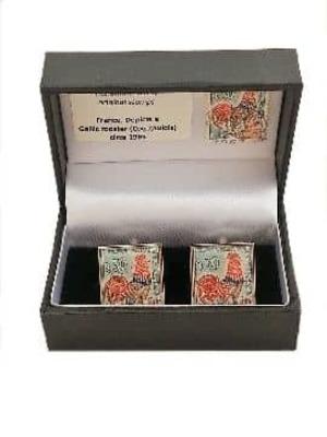 French Vintage Stamp Cufflinks image