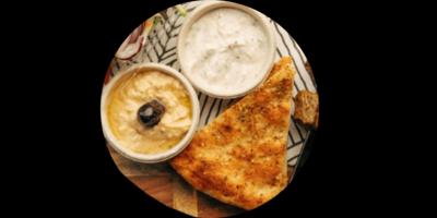 Hummus or Tazatziki Dip image
