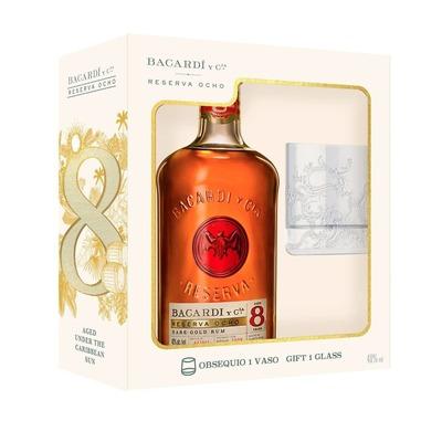 Bacardi 8 .750 - Holiday Gift Pack w/ Glass (Spirits) image