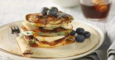 Blueberry and Banana Pancakes image
