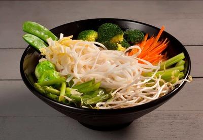 Vietnamese Pho Noodle Soup Veg image