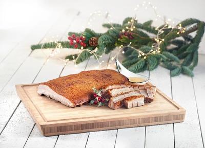 (U.P$62.06) Roasted Pork Crackling served with Mustard Sauce image