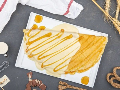 Cheese and Honey Crepe image
