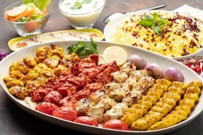 Mixed Chicken Family Platter 1KG (12 skewers) image