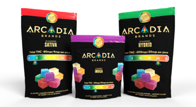 Arcadia (Sativa) 100mg (10 Pack) - 10mg/piece - Orange/Tuttie (Batch HBS_003 & C99_KIF_001) image